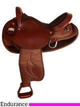 "15.5"" 16.5"" Big Horn Cordura Nylon/Leather Endurance Saddle 2936"