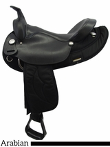 "15.5"" 16.5"" Big Horn Synthetic Arabian Saddle 115 116 283"