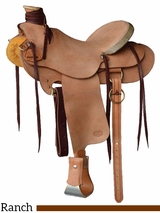 "15.5"" 16"" Courts Saddlery Ranch Saddle 07002"