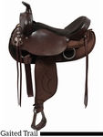 """SOLD & DISCONTINUED 2017/04/12  16.5"""" Tennessean Lady Trail Saddle Gaited/Cordura 6398"""