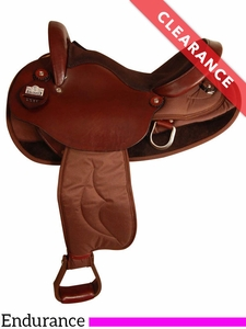 "15.5"" Big Horn Cordura Nylon/Leather Endurance Saddle 2936 CLEARANCE"