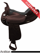 "15.5"" Big Horn Synthetic Arabian Saddle 116 CLEARANCE"