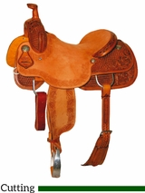 "DISCONTINUED 15.5"" to 17"" Reinsman Ranch Cutter Saddle 4822"
