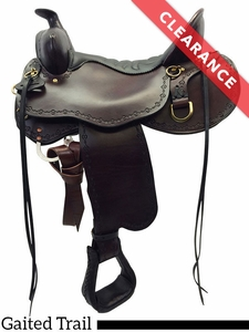 """SOLD 2017/10/23  15.5"""" Tucker Black Mountain X-Wide Gaited Saddle 261 CLEARANCE"""
