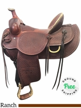 "15.5"" Used Billy Cook High Country Wide Ranch Saddle 2175 usbi3918 *Free Shipping*"