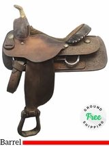 "15.5"" Used Billy Cook Wide Barrel Racer 8555 usbi3955 *Free Shipping*"
