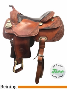 "15.5"" Used Billy Cook Wide Custom Reining Saddle usbi3849 *Free Shipping*"