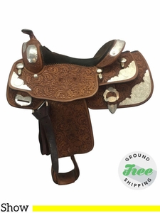 """15.5"""" Used Billy Cook Wide Show Saddle 9003 usbi3684 *Free Shipping*"""