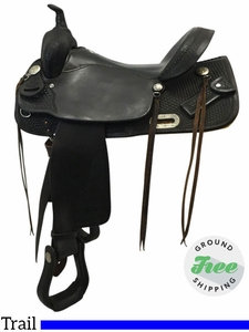 "15.5"" Used Billy Cook Wide Trail Saddle 2536 usbi3748 *Free Shipping*"