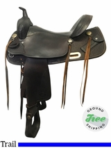 """SOLD ON LAYAWAY 2017/08/21  15.5"""" Used Billy Cook Wide Trail Saddle 2536 usbi3748 *Free Shipping*"""