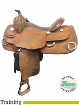 "15.5"" Used Billy Cook Wide Training Saddle 9030 usbi3903 *Free Shipping*"