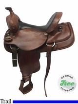 "15.5"" Used Circle Y Medium Park and Trail Saddle 1258 uscy3680 *Free Shipping*"