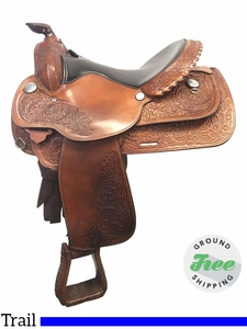 "15.5"" Used Circle Y Medium Park and Trail Saddle 3106 uscy3876 *Free Shipping*"