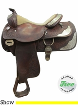 "15.5"" Used Silver Royal Show Saddle ussr3050 *Free Shipping*"