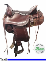 "15.5"" Used Tucker Cheyenne Frontier Wide Trail Saddle 167 ustk3844 *Free Shipping*"
