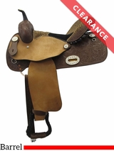 "15"" Alamo Custom Leopard Wide Barrel Saddle 1234 CLEARANCE"