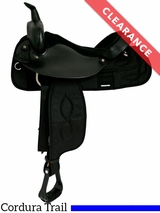 "15"" Big Horn Cordura Suede Seat Trail Saddle 167 CLEARANCE"