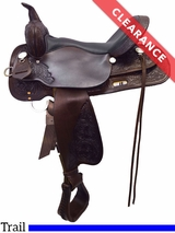 """SOLD 2017/06/14  15"""" High Horse by Circle Y Mineral Wells Trail Saddle 6812 CLEARANCE"""