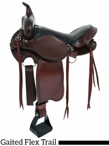 "16"" to 17"" Big Horn Custom Gaited Light Flex Tree Trail Saddle 815"