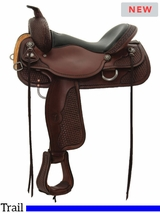 "15"" to 17"" Circle Y Ashton High Country Trail Saddle 2617 w/$105 Gift Card"