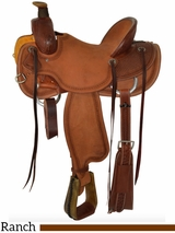 "** SALE ** 15"" to 17"" Circle Y Barton Ranch Saddle 2125 w/$105 Gift Card"