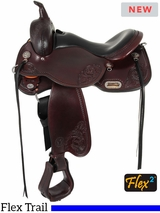 "** SALE ** 15"" to 17"" Circle Y Lady Trail Wide Flex2 Saddle 5701"