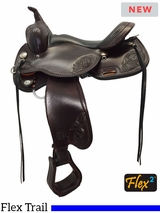 "15"" to 17"" Circle Y Lady Trail Wide Flex2 Saddle 5701 w/Free Pad"