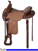 "** SALE ** 15"" to 17"" King Series Brisbane Roughout Trail Saddle 172"