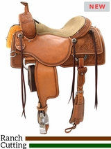 "** SALE ** 15"" to 17"" Reinsman Ranch Cutting Saddle 4823 w/$210 Gift Card"
