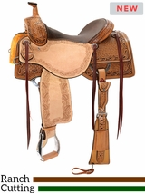 "** SALE ** 15"" to 17"" Reinsman Ranch Cutting Saddle 4825 w/$210 Gift Card"