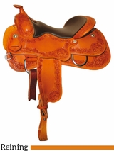 "DISCONTINUED 15"" to 17"" Reinsman Reining Saddle 4762"