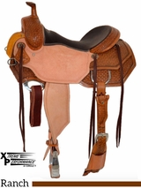 "** SALE ** 15"" to 18"" Circle Y XP Hamilton Wide Ranch Saddle 2542"