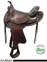 "15"" Used American Saddlery Arabian Trail Saddle 920 usam3830 *Free Shipping*"