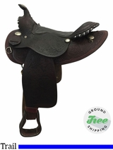"15"" Used American Saddlery Wide Trail Saddle 901 usam3773 *Free Shipping*"