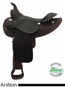 "15"" Used American Saddlery Wide Arabian Trail Saddle 901 usam3773 *Free Shipping*"