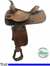 "15"" Used Big Horn Trail Saddle usbh3063 *Free Shipping*"