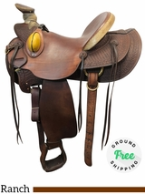 "15"" Used Billy Cook Wide Wade Ranch Saddle 2189 usbi4108 *Free Shipping*"