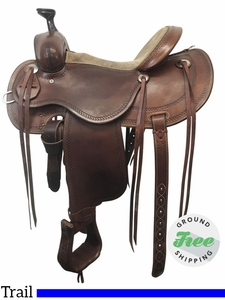 """SOLD 2017/11/03 15"""" Used Cashel by Martin Wide Outfitter Trail Saddle usch3841 *Free Shipping*"""