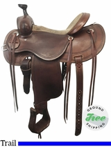 "15"" Used Cashel by Martin Wide Outfitter Trail Saddle usch3841 *Free Shipping*"