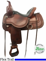 "15"" Used Circle Y Alaska Extra Wide Flex2 Trail Saddle 1599 uscy3819 *Free Shipping*"