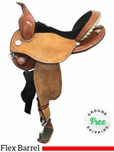 "15"" Used Circle Y Kenny Harlow Wide Flex2 Barrel Saddle 5625 uscy3930 *Free Shipping*"