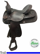 "15"" Used Circle Y Medium Park and Trail Saddle 3625 uscy3774 *Free Shipping*"