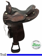 "15"" Used Circle Y Medium Trail Saddle 2131 uscy3776 *Free Shipping*"