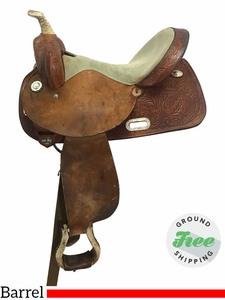 "15"" Used Circle Y Medium Barrel Racer uscy3669 *Free Shipping*"