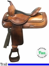 "15"" Used Circle Y Wide Park and Trail Saddle 1551 uscy3979 *Free Shipping*"