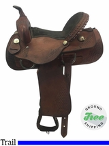 "15"" Used Dakota Medium Trail Saddle 350L usdk3721 *Free Shipping*"