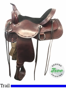 """15"""" Used High Horse Winchester Wide Trail Saddle 6819 ushh3832 *Free Shipping*"""
