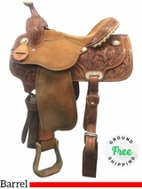 "15"" Used Martin Saddlery Wide Barrel Saddle usmr3987 *Free Shipping*"