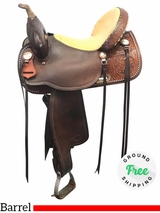 "15"" Used Tex Tan Medium Barrel Saddle ustt3922 *Free Shipping*"