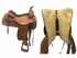 "15"" Used Tex Tan Medium Roping Saddle ustt3760 *Free Shipping*"